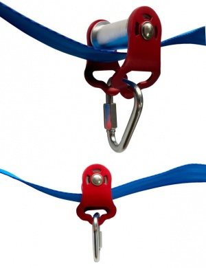 Ninja Slider Slackline Pulley - Zip Along Your Ninja Course with The Most Fun New Accessory for Your Ninja Warrior Obstacle Course for KidsPulley for Slackline