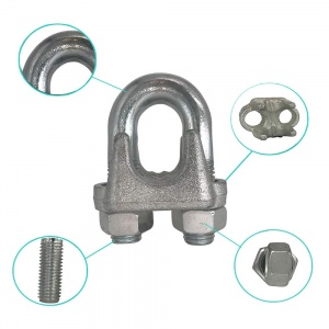 CTSC Wire Rope Clamp 3/8 inch 3 Pack Zinc Plated - Wire Rope Clip - Wire Cable Clamps (silver)