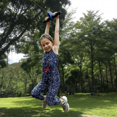 Are you looking for a zip line kit that's great for your kids but also allows you to join in the fun?
