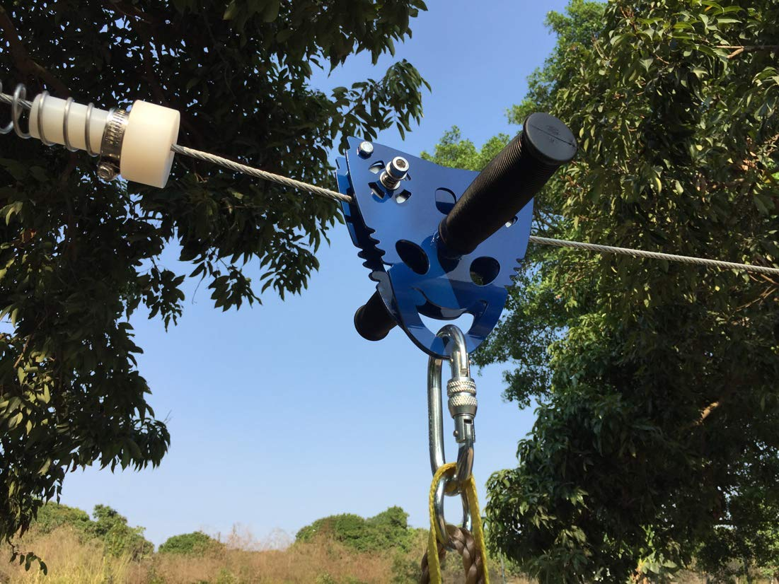 CTSC Upgraded 120ft Ziplines for Backyards with Seat and ...